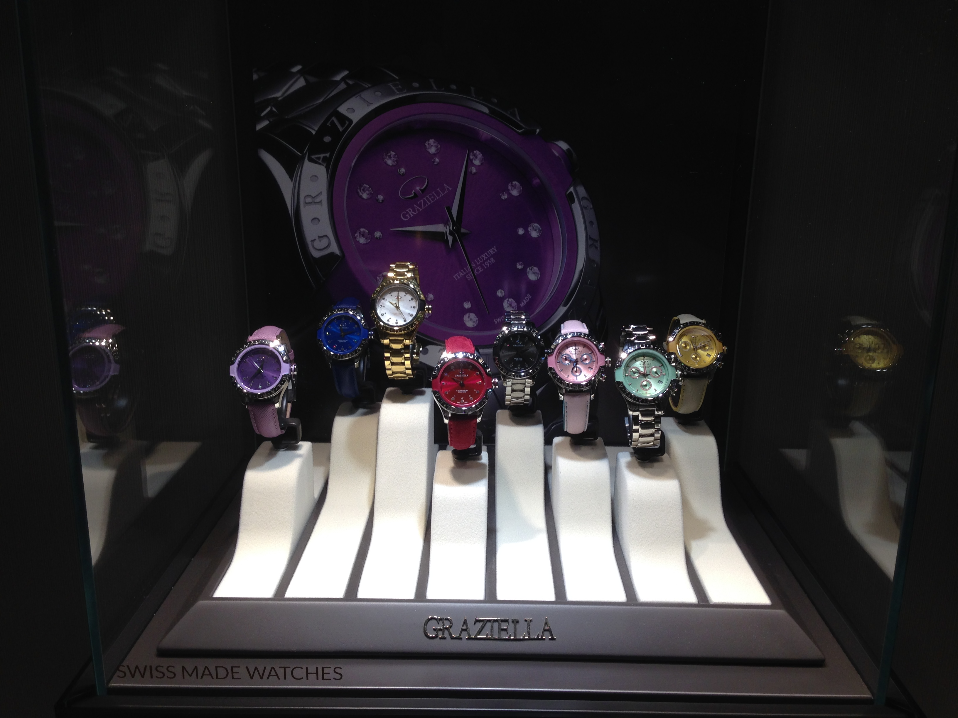 watches display