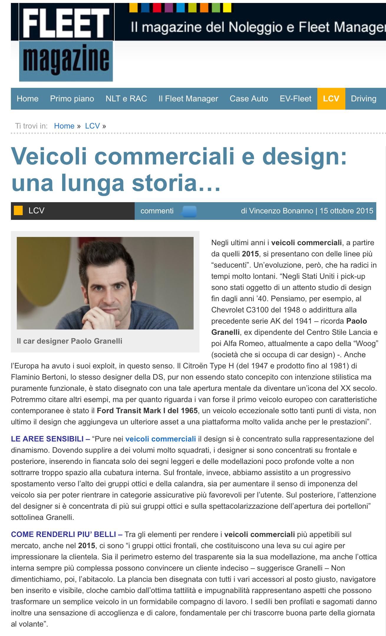 articolo lcv fleet magazine